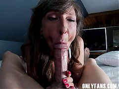 Sexy Milf Marie Sucking Cock and Swallowing Cum Compilation