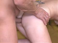 deepthroat grannies have taboo anal sex threesome stepsister